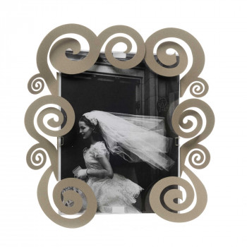 Arti e Mestieri Porta foto grande con spirali in metallo dallo stile moderno Cloe    20x25 3538