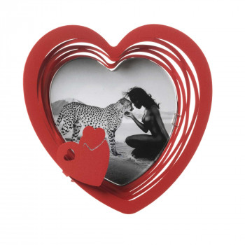Arti e Mestieri Porta foto in metallo a forma di cuore Mon Coeur    13x13 3543