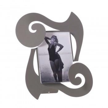 Arti e Mestieri Porta foto da tavolo in metallo dalle linee contemporanee Odeon    12x17 3562