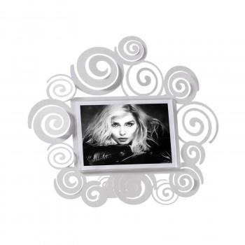Arti e Mestieri Porta foto da tavolo piccolo con ricci in metallo dalle linee moderne Arabesque    12x17 3609