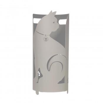 Arti e Mestieri Porta ombrelli da ingresso in metallo con vaschetta dallo stile originale Gatto     3492