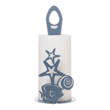 Arti e Mestieri Porta rotolo di carta da parete per cucina con fantasia marina Nettuno