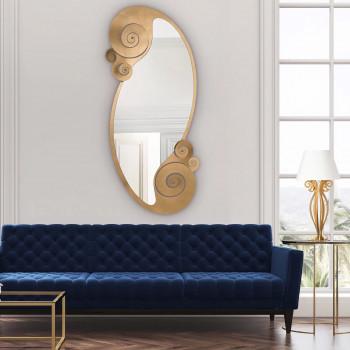 Arti e Mestieri Specchio da parete in metallo dal design moderno Circeo     3548