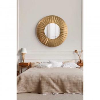 Arti e Mestieri Specchio da parete di design con incisione a stella Sirio     3587