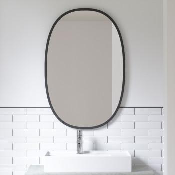 Umbra Specchio da parete ovale in stile moderno Hub     1006044
