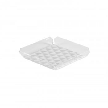 Vesta Svuotatasche in plexiglass con tovaglietta antiscivolo in plastica alla base Anything Bianco    1150047