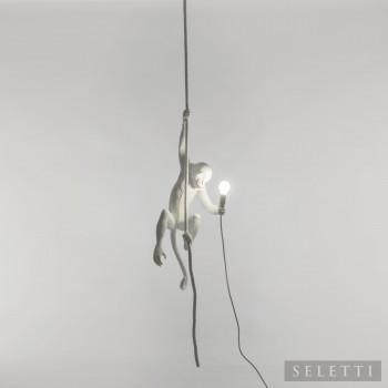"""Seletti Lampada a sospensione in stile moderno in resina """"Monkey Lamp""""   Lumen 350 4000k Luce Naturale"""