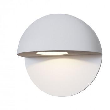 Maytoni Applique da parete a LED per esterno dal design moderno con diffusore rotondo Mezzo Bianco Lumen 250 3000k Luce Calda  O033WL-L3W3K
