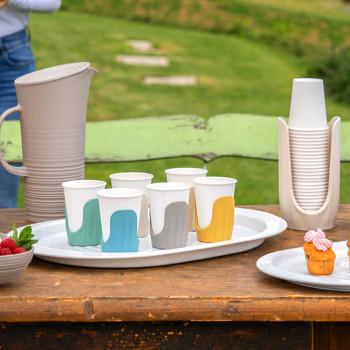 Guzzini Set 6 reggibicchieri di plastica dalle linee moderne Tierra Multicolore    19750052