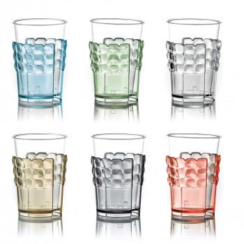 Guzzini Portabicchieri da tavola per bicchieri di plastica Set 6pz Tiffany