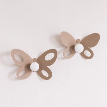 Arti e Mestieri Appendiabiti da parete Set 2pz Butterfly
