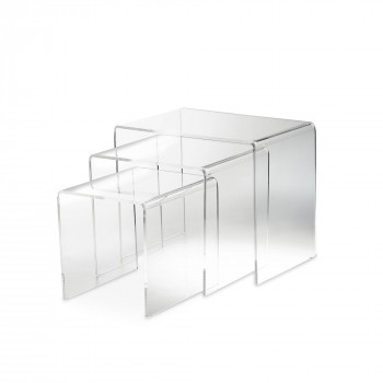 Vesta Tavolini da salotto in plexiglass Set 2pz Simply