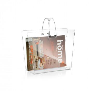 Giannini Porta riviste moderno a forma di borsa Metacrilato Trasparente