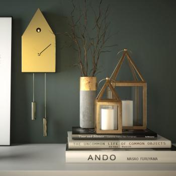 """Progetti Orologio da parete in metallo a cucù """"24k"""""""