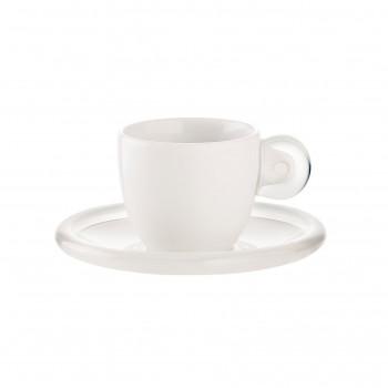 Guzzini Set 6 tazzine caffé con piattini Gocce     266901