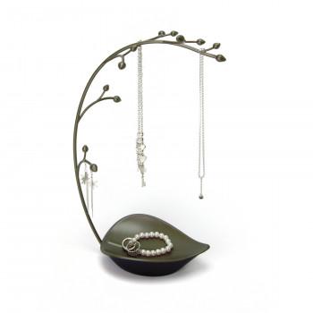 Umbra Portagioie moderno in metallo Orchidea Grigio Scuro