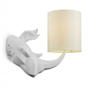 Maytoni Applique da parete in resina dal design moderno con paralume in tessuto Nashorn     MOD470WL-01