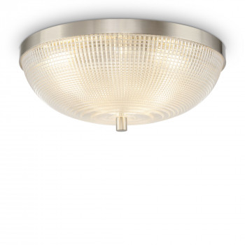 Maytoni Lampada da soffitto piccola in metallo con diffusore in vetro Coupe Nichel    C046CL-03N