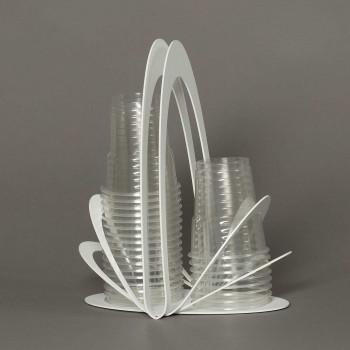 Arti e Mestieri Portabicchieri in metallo per bicchieri di plastica Origami