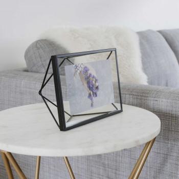 Umbra Portafoto da tavolo o da parete moderno orientabile in metallo Prisma    10x15 313016