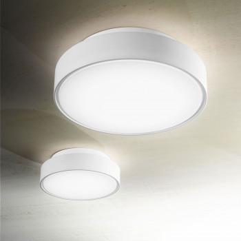 Fabas Luce Plafoniera piccola a LED per esterno con struttura dal design moderno Hatton Bianco Lumen 1300 3000k Luce Calda  3206-61-102