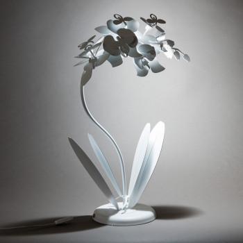 Arti e Mestieri Lampada da tavolo piccola in metallo Orchidea