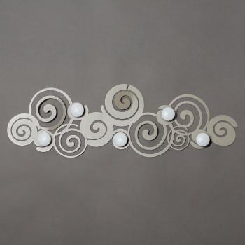 Arti e Mestieri Appendiabiti da parete moderno in metallo Orfeo