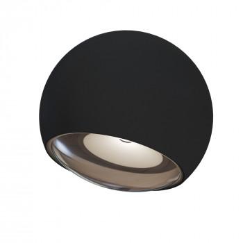 Maytoni Applique da parete a LED per esterno con diffusore rotondo dal design moderno Stream Nero Lumen 200 3000k Luce Calda  O032WL-L3B3K