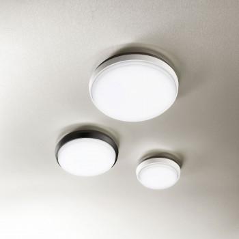Fabas Luce Lampada a soffitto a LED per esterno struttura in alluminio dal design moderno Olly  Lumen 2800 3000k Luce Calda  3315-65