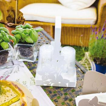 Arti e Mestieri Porta bicchieri floreale con decorazione floreale Fior Di Loto