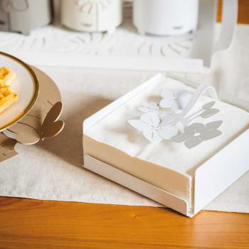 Arti e Mestieri Porta tovaglioli da tavola con decorazione floreale Fior Di Loto     3330