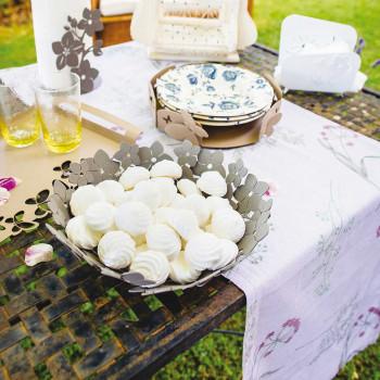 Arti e Mestieri Centro tavola piccolo con decoro floreale Fior Di Loto     3332