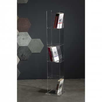 Vesta Libreria in plexiglass Book Tower Trasparente    3379200
