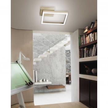 Fabas Luce Plafoniera grande dal design moderno a LED con struttura in metallo Bard  Lumen 3510 3000k Luce Calda  3394-61