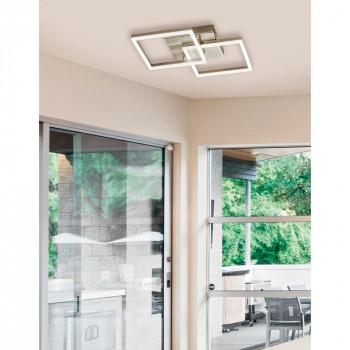 Fabas Luce Plafoniera piccola 2 luci a LED in stile moderno con struttura in metallo Bard  Lumen 3510 3000k Luce Calda  3394-22