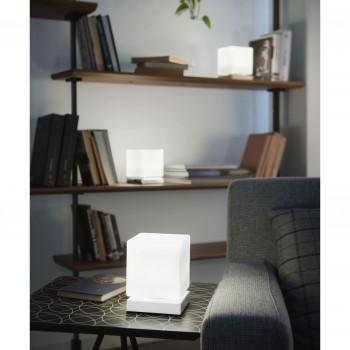 Fabas Luce Abatjour a LED dimmerabile struttura in metallo e diffusore in vetro Brenta  Lumen 540 3000k Luce Calda  3407-30