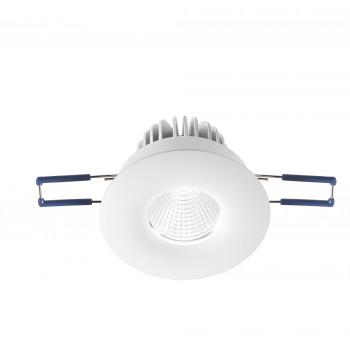 Fabas Luce Faretto da incasso rotondo con 1 luce a LED e struttura in alluminio Sigma Bianco Lumen 800 3000k Luce Calda  3445-72-342