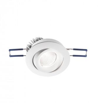 Fabas Luce Faretto da incasso rotondo orientabile con luce a LED struttura in alluminio Alice Bianco    3445-72-343