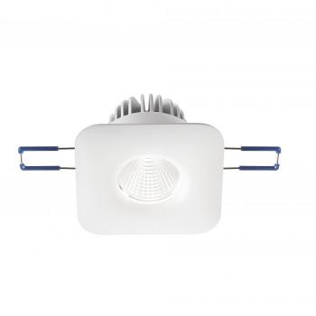 Fabas Luce Faretto da incasso quadrato con struttura in alluminio e lampada a LED Sigma Bianco Lumen 800 3000k Luce Calda  3445-72-344