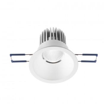 Fabas Luce Faretto da incasso rotondo con struttura in metallo e lampada a LED Alice Bianco Lumen 800 3000k Luce Calda  3445-72-346
