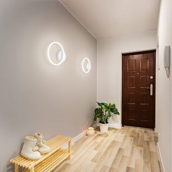 Fabas Luce Applique da parete rotonda a LED con struttura in metallo dal design moderno Giotto  Lumen 1620 3000k Luce Calda  3508-21