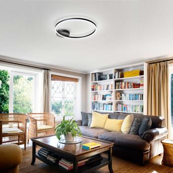 Fabas Luce Plafoniera a soffitto a LED con struttura in metallo dal design moderno Giotto  Lumen 3240 3000k Luce Calda  3508-61