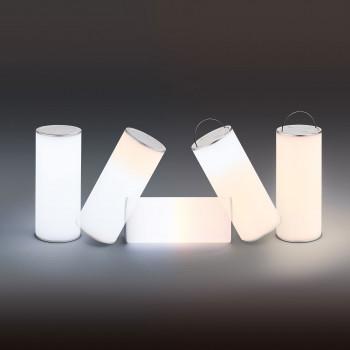 Fabas Luce Lampada da tavolo a LED dimmerabile con struttura in plastica Thalia Bianco Lumen 325 3000k-4000k Dimmerabile  3511-30-137