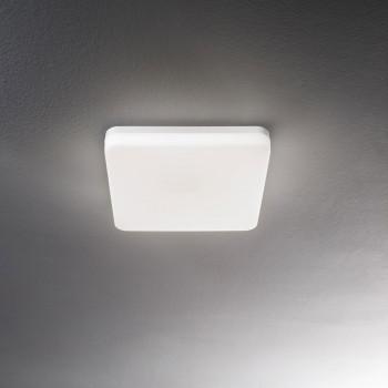 Fabas Luce Plafoniera per esterno a LED a soffitto moderna diffusore in policarbonato Folk Bianco Lumen 2150 3000k Luce Calda  3526-61-102