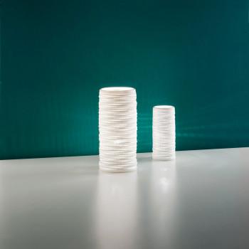Fabas Luce Abat Jour moderna con struttura in metallo e ceramica Marbella Bianco    3527-30-102