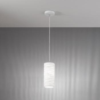 Fabas Luce Lampada a sospensione moderna con struttura in metallo e diffusore in ceramica Marbella Bianco    3527-40-102
