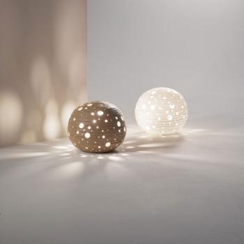 Fabas Luce Abat Jour in stile moderno con struttura in metallo e diffusore in ceramica Corvara     3531-30