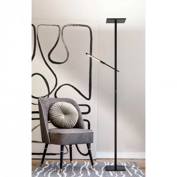 Fabas Luce Piantana moderna da salotto con 2 luci a led con struttura in alluminio Ideal  Lumen 3000+500 3000k Luce Calda  3550-10