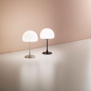 Fabas Luce Lampada da comodino con struttura in metallo e diffusore in vetro design moderno Gaia     3569-30