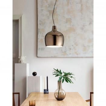 Fabas Luce Lampada a sospensione grande moderna con struttura in metallo e ceramica Glossy Bronzo    3610-45-179